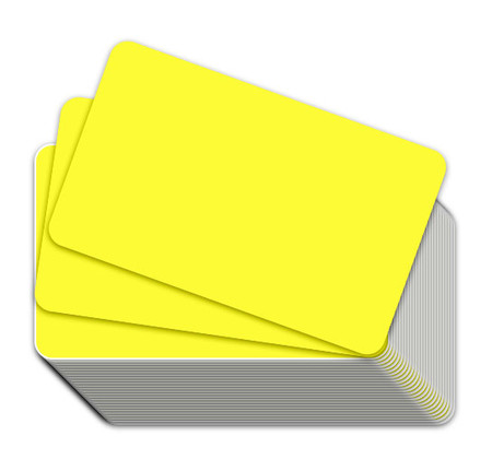 Fluorescent Yellow Blank Plastic Cards