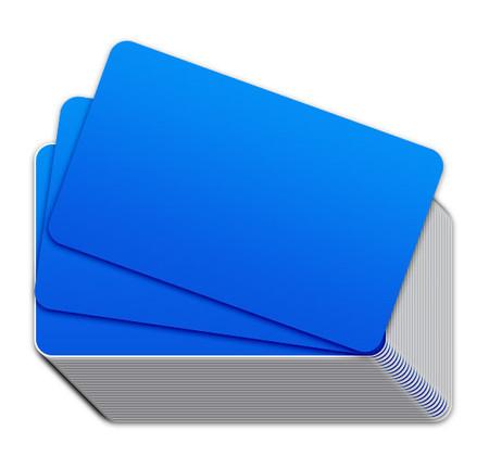 Fluorescent Blue Blank Plastic Cards