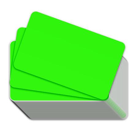 Fluorescent Green Blank Plastic Cards