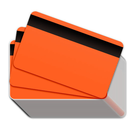 Neon Orange Blank Plastic Cards with Magnetic Stripe