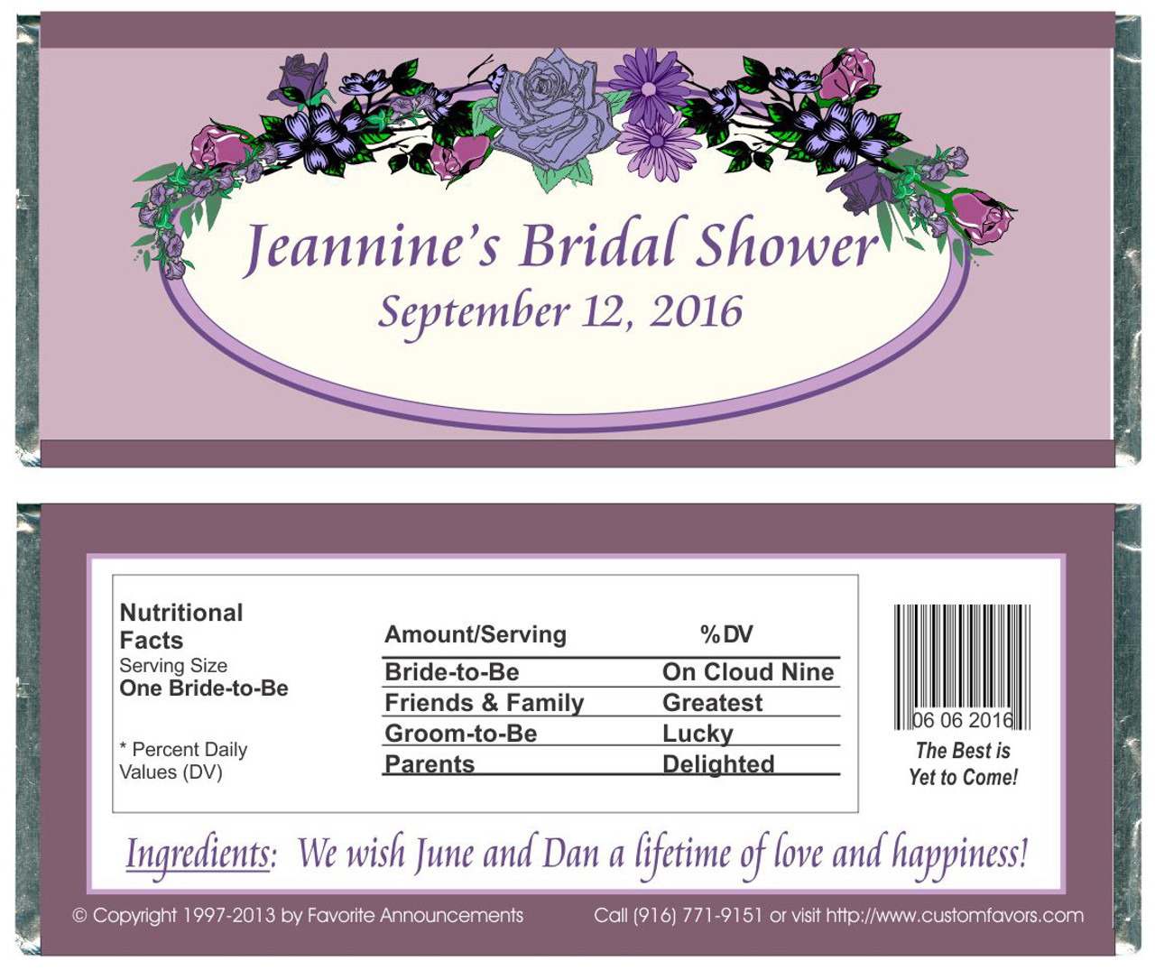 Bridal Shower Flowers Wrappers Favorite Announcements