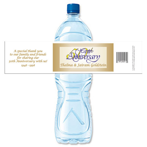 [Y01] 50th Anniversary weatherproof water bottle label