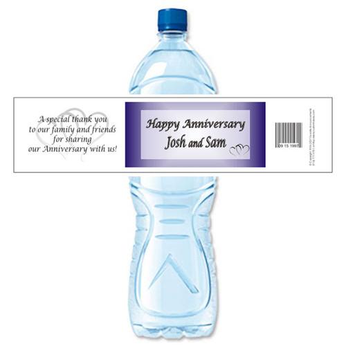 [Y02] Heart Anniversary weatherproof water bottle label