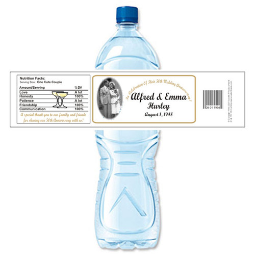[Y04] Photo Anniversary weatherproof water bottle label