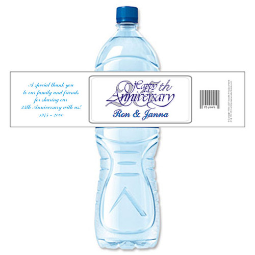 [Y10] 25th Anniversary weatherproof water bottle label