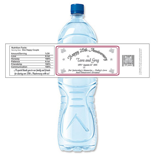 [Y12] Anniversary Bells weatherproof water bottle label