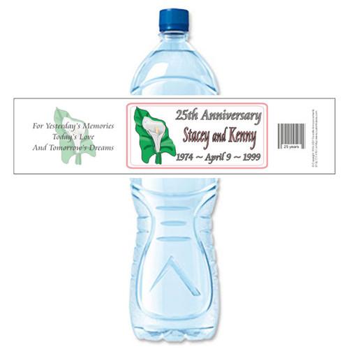 [Y14] Lily Anniversary weatherproof water bottle label