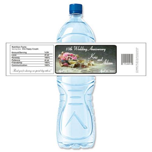 [Y17] Bouquet Anniversary weatherproof water bottle label