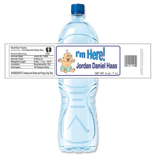 [Y48] I'm Here 1 weatherproof water bottle label