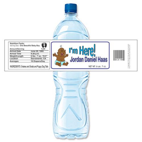 [Y49] I'm Here 2 weatherproof water bottle label