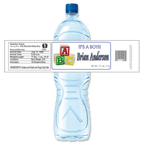 [Y50] Blocks weatherproof water bottle label