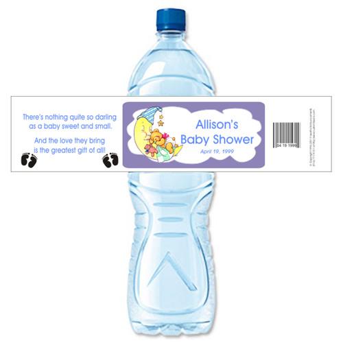 [Y18] Bear on the Moon weatherproof water bottle label