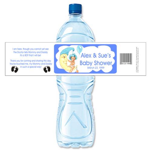 [Y19] Boy on the Moon weatherproof water bottle label