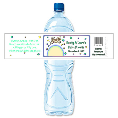 [Y23] Cow Over Moon weatherproof water bottle label