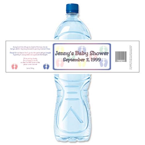 [Y24] Baby Shower Multi Feet weatherproof water bottle label