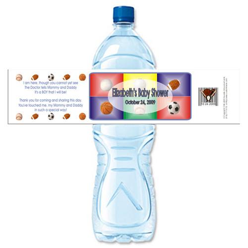 [Y314] Sports Shower weatherproof water bottle label
