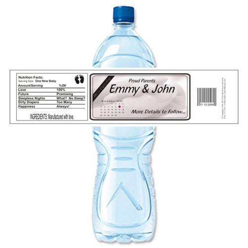 [Y33] We're Expecting Hands weatherproof water bottle label