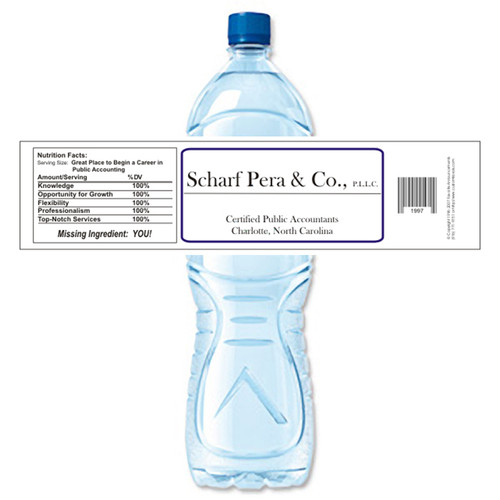 [Y140] Sample Business Card weatherproof water bottle label