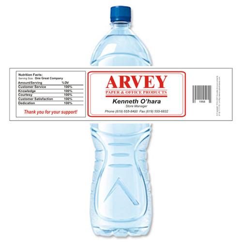 [Y141] Sample Business Card weatherproof water bottle label