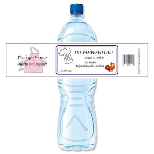 [Y144] Event Business Card weatherproof water bottle label