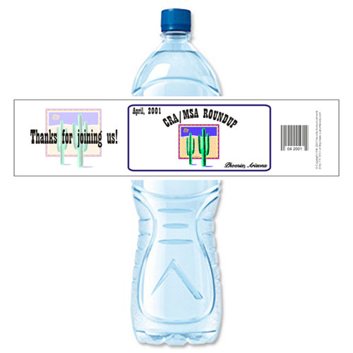 [Y145] Event Business Card weatherproof water bottle label