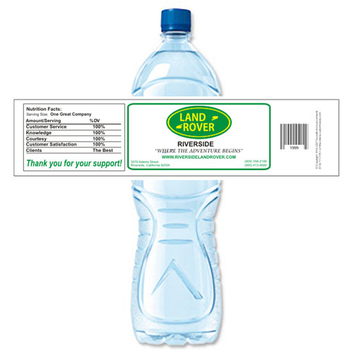 [Y147] Sample Business Card weatherproof water bottle label