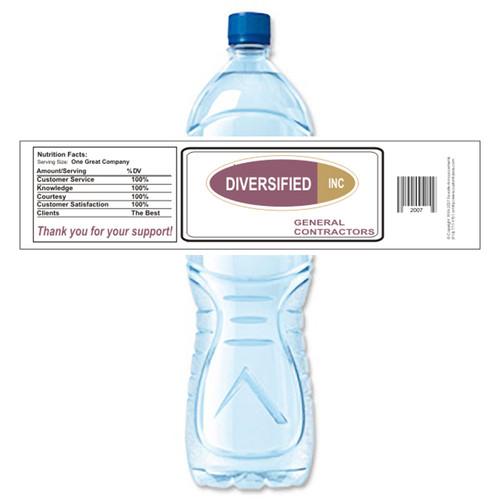 [Y151] Sample Business Card weatherproof water bottle label
