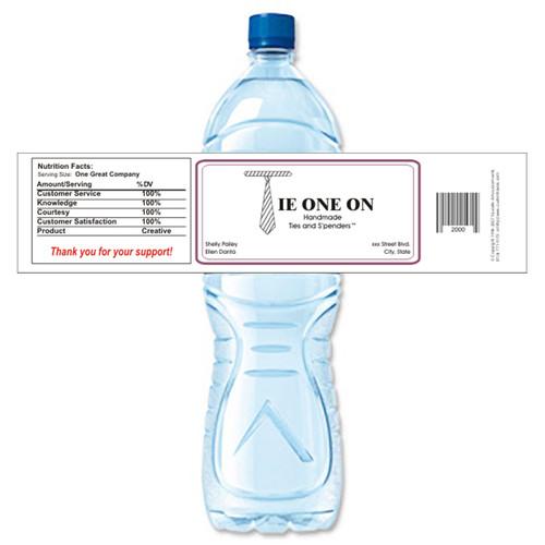 [Y358] Sample Business Card weatherproof water bottle label