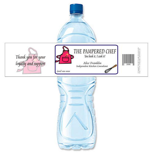 [Y359] Event Business Card weatherproof water bottle label