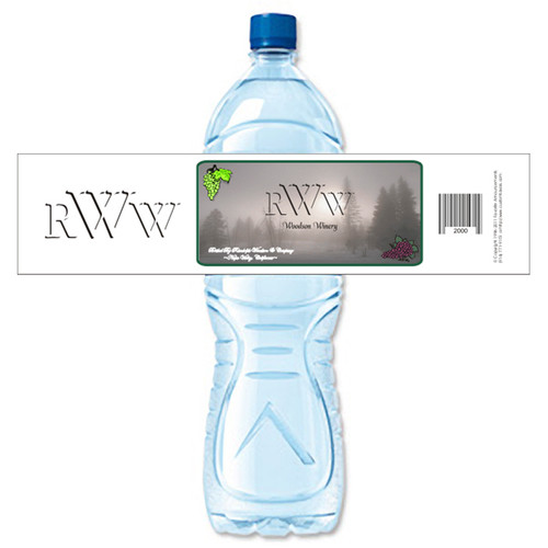 [Y364] Monogram 1 weatherproof water bottle label