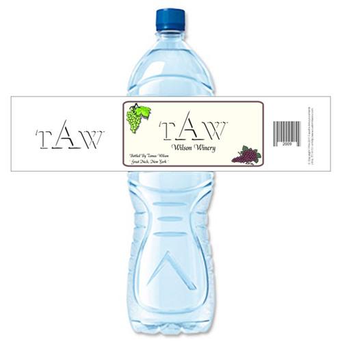 [Y365] Monogram 2 weatherproof water bottle label