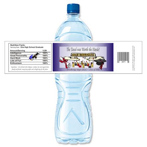 [Y153] Graduation Class weatherproof water bottle label