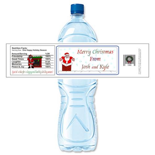 [Y183] Chimney weatherproof water bottle label