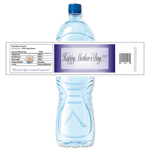[Y216] Name Plate weatherproof water bottle label