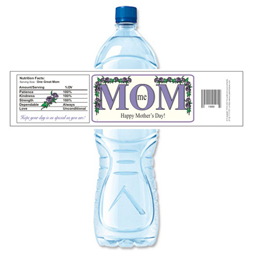 [Y217] Mom Me weatherproof water bottle label