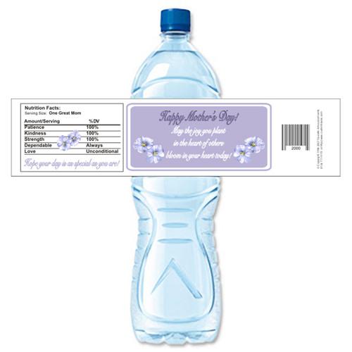 [Y219] Mother's Day Flowers weatherproof water bottle label
