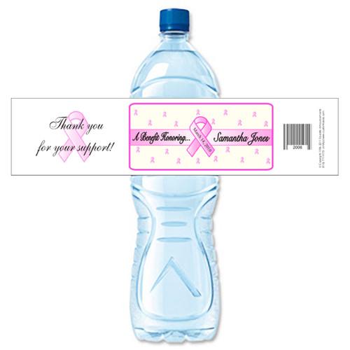 [Y486] Breast Cancer 2 weatherproof water bottle label