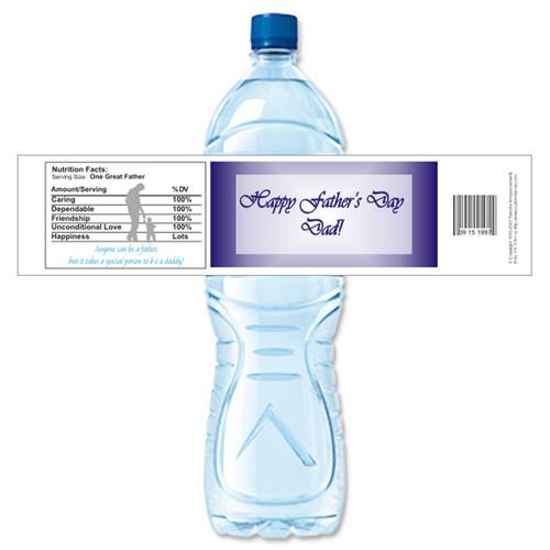 [Y488] Name Plate weatherproof water bottle label