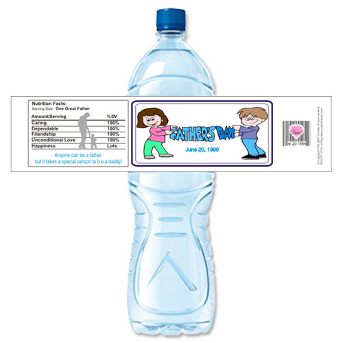 [Y490] Fathers Day 2 weatherproof water bottle label