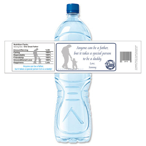 [Y491] Special Daddy weatherproof water bottle label