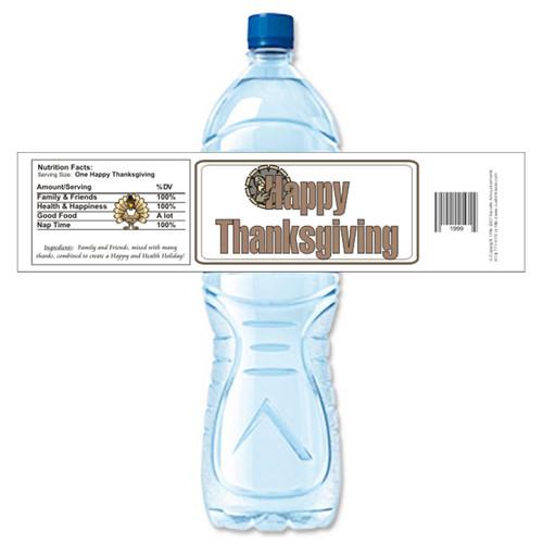 [Y497] Thanksgiving - 2 weatherproof water bottle label