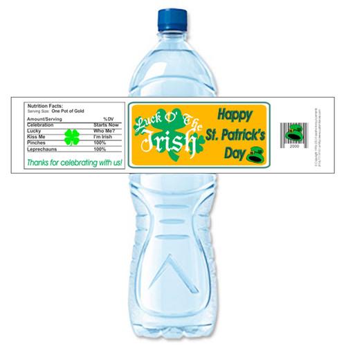 [Y647] Luck O' the Irish weatherproof water bottle label