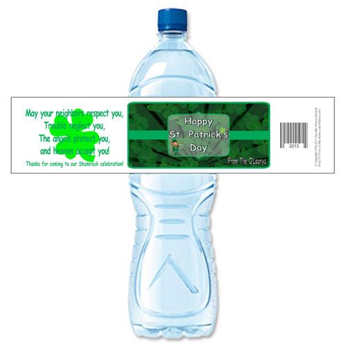 [Y656] Shamrock weatherproof water bottle label