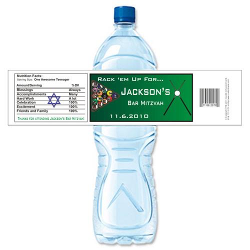 [Y418] Billiard weatherproof water bottle label