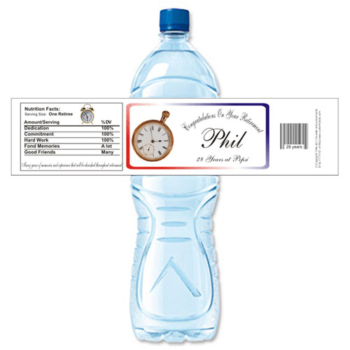 [Y245] Watch Retirement weatherproof water bottle label