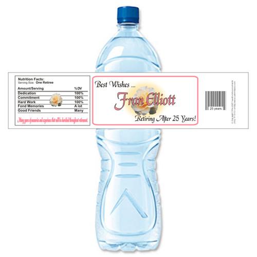 [Y247] White Rose Retirement weatherproof water bottle label