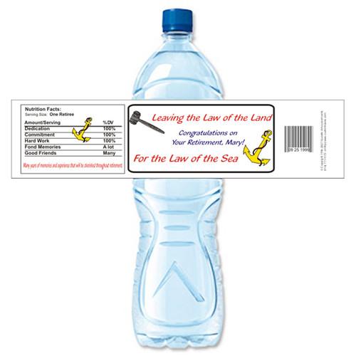 [Y248] Gavel Retirement weatherproof water bottle label