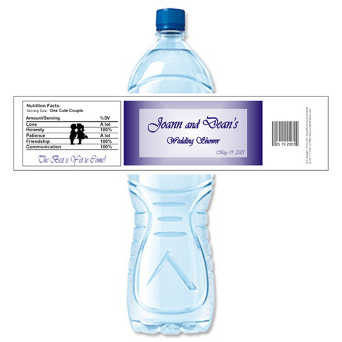 [Y122] Name Plate weatherproof water bottle label