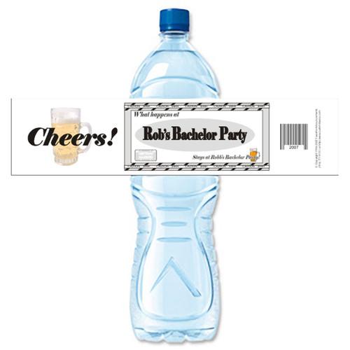 [Y126] Happens At Bachelor ... weatherproof water bottle label