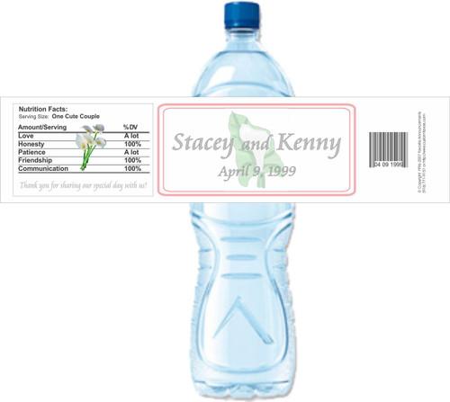 [Y265] Lily weatherproof water bottle label